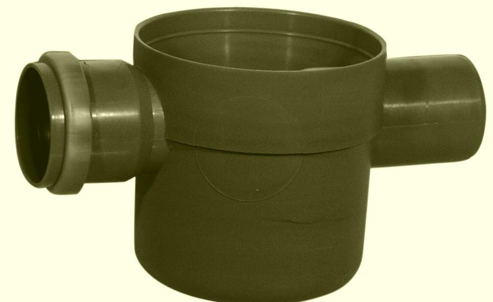 Padlószifon(szuez), II. ágú, tokozott, gumigyűrűs